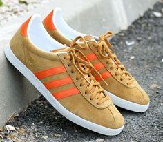 adidas Originals Gazelle OG – Wheat / Metallic Gold – Orange