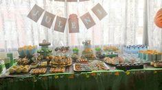 Fabulosa mesa cumpleaños fiesta selva