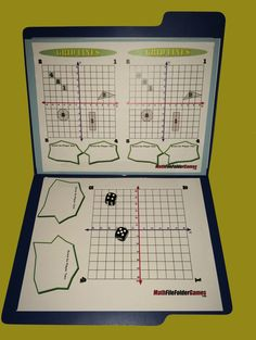 Math File Folder Game - 42 printable math games for upper elementary and middles school students, easy-to-setup for any math class. http://www.mathfilefoldergames.com/middle-school-math-games/ #math #games