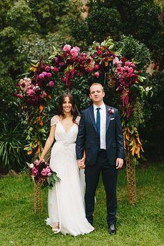 Moody wedding palette in blues and magentas. Wedding Altars, Boho Wedding, Floral Wedding, Rustic Wedding, Trendy Wedding, Wedding Bride, Summer Wedding, Magenta Wedding, Berry Wedding