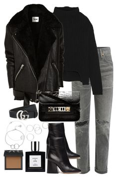 """Untitled #5180"" by theeuropeancloset on Polyvore featuring Citizens of Humanity, Rick Owens, Acne Studios, Maison Margiela, Proenza Schouler, Gucci, NARS Cosmetics and Chupi"