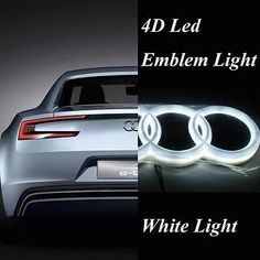 4d car styling rear #badge #emblem logo with white led #light fit for audi a3 q5,  View more on the LINK: 	http://www.zeppy.io/product/gb/2/112165852151/