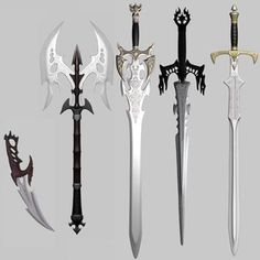 3D max Fantasy medieval Weapon ❤ liked on Polyvore featuring weapons, armas and weapons/armor