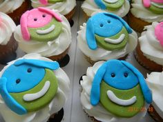 Lollos cupcakes Frozen Birthday Party, 3rd Birthday, Birthday Parties, Gum Paste Flowers, Creative Kids, Fondant, Birthdays, Cupcakes, Word 3