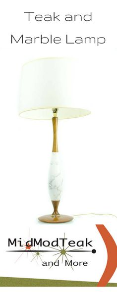 Vintage midcentury modern teak and marble table lamp/ stunning midcentury lamp/ teak and marble lamp madmen era Looking for a fabulous teak and marble lamp? Great Etsy shop https://www.etsy.com/ca/listing/563141535/mid-century-modern-table-lamp-teak-and