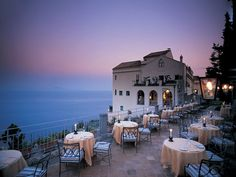 Overall Rating: 92.824  A recent restoration transformed this 11th-century Moorish-influenced palazzo into a property as dazzling as its location overlooking the Gulf of Salerno. The frescoes burst with color, the gardens are a sensory bonanza, and the extraordinary infinity pool makes it seem as if you could float out to the turquoise sea a thousand feet below. Room details—mosaic-tiled floors, televisions that rise out of stylish cabinets with the push of a button—are a study in comfort…