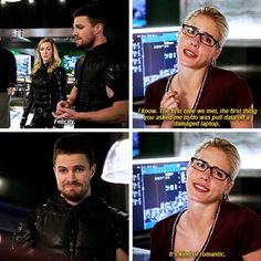 - Oliver & Felicity They are too fucking perfect! Arrow Felicity, Oliver And Felicity, Felicity Smoak, Arrow Cast, Arrow Tv, Arrow Quote, The Cw Shows, Dc Tv Shows, The Flash