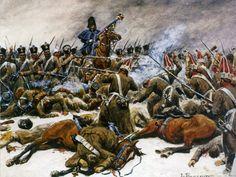 La défense du 14e de ligne à Eylau 1807