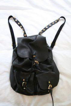 This backpack should be miiiiiiiiine. #leather #studs