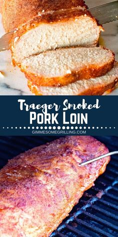 Delicious smoked pork loin with an easy rub recipe! This Traeger Pork Loin is juicy and full of flavor. If you are new to using a pellet grill then you need to try this recipe! It& perfect for when you entertain guests or have a backyard party! Traeger Pork Loin, Grilled Pork Loin, Pork Tenderloin Recipes, Traeger Smoker, Rub Recipes, Roast Recipes, Grilling Recipes, Dinner Recipes, Dinner Ideas