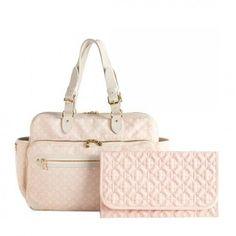 Louis Vuitton pink diaper bag | Louis Vuitton Pink Monogram Mini Lin Diaper Bag #bags #fashion