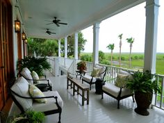 decorated large front porch