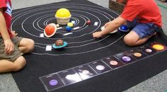 I made this felt solar system mat to aid the study of the planets. My first step toward building a solar system and space unit was to buy this Planets and Sun set from Priority Montessori Materials. This set comes with the planets, the sun, and labels for each. I...