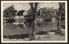 tolle AK Roitzsch, Partie am Teich