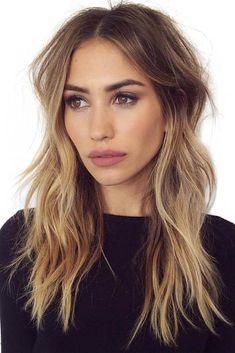 Einfache lange Frisuren