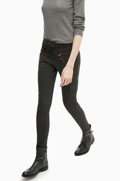 Jersey Leggings With Eco-Suede Pockets - woman | Adolfo Dominguez shop online