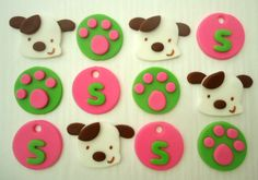 Fondant Cupcake Toppers - Puppy Paws