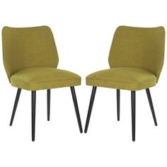@Overstock - The Retro Collection is inspired by a resurgence of 1960's era in media and prompted a collection inspired by retro designs infused with today's colors. Simple, elegant chairs (set of 2) design has a  timeless retro look andhttp://www.overstock.com/Home-Garden/Safavieh-Retro-Nail-head-Green-Linen-Blend-Side-Chair-Set-of-2/7291995/product.html?CID=214117 $326.99