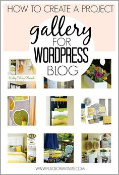 HOW TO CREATE A PROJECT GALLERY FOR WORDPRESS BLOG -