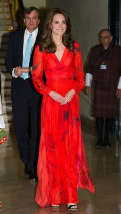 The Duchess Of Cambridge's India And Bhutan Outfits Were Truly Stunning