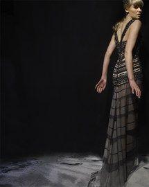 Gown by Australian designer, Gwendolynne Burkin. Breathe, breathe...