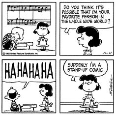 Lucy and Schroeder, Peanuts Gang,  November 11, 1982