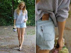 American Apparel Sweater, Levi's® Shorts
