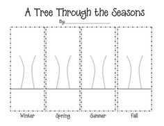 A tree through the seasons template