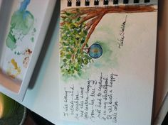 Tisha Sheldon's watercolor journal