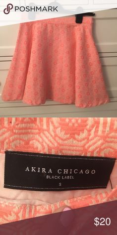 AKIRA patterned circle skirt Excellent condition. Zip side. AKIRA Skirts Mini
