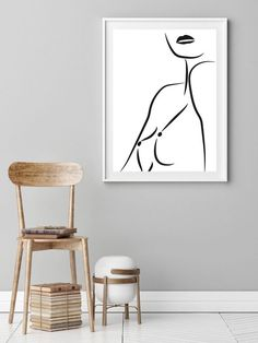 Body Sketches, Art Sketches, Art Drawings, Drawing Female Body, Female Art, Line Drawing, Painting & Drawing, Outline Art, Woman Sketch