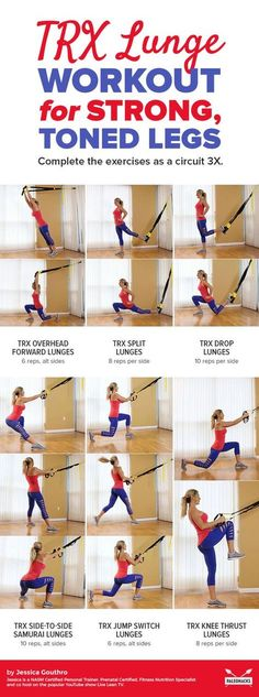 Strengthen and tone with this TRX lunge workout that takes leg day to the next level! Get the full workout here: Fitness Workouts, Fitness Tips, Health Fitness, Trx Workouts For Women, Trx Workout Routine, Trx Ab Workout, Trx Leg Exercises, Trx Full Body Workout, Quick Workouts