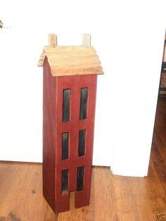 FOLK ART SALT BOX HOUSE