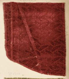 Fragment Date: 16th century Culture: Italian Medium: Silk Classification: Textiles-Velvets Accession Number: 2002.494.108