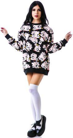 Joyrich Betty Boop Crew Pullover Sweatshirt   Dolls Kill