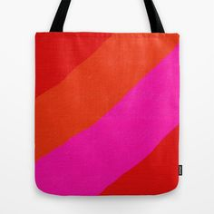 Red, Pink And Orange Tote Bag by Pippi Dust - $22.00