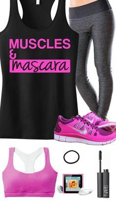 Muscles & mascara workout gear