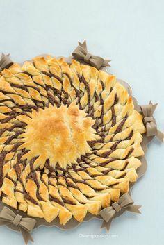 tarte soleil, girasole di pasta sfoglia dolce, Puff Pastry