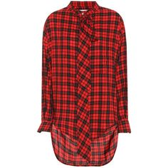 Oversized Cutout Checked Silk And Cotton-blend Shirt - Red Alexander McQueen 100% Authentic Cheap Online Free Shipping For Sale Fast Express cFZ1wWe