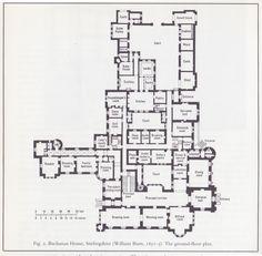 House Plans Mansion Chateaus Ideas For 2019 Castle Floor Plan, Castle House Plans, House Plans Mansion, House Floor Plans, The Plan, How To Plan, Vintage House Plans, House Layouts, Architecture Plan