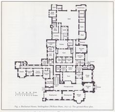 highclere castle floor plan - Google Search                                                                                                                                                     More