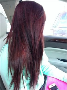 Burgundy+Brown+Hair+with+Highlights | Burgundy Plum Brown Hair Color Beautiful Long Hair with