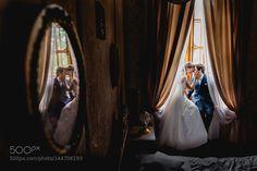 Portrait of bride and groom by PiotrWojcik3