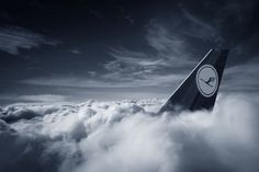 Lufthansa above the clouds