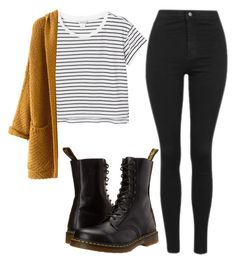 """Untitled #51"" by exc4libur on Polyvore featuring Monki, Topshop and Dr. Martens"