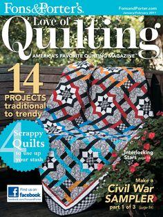 LOVE OF QUILTING jan feb 2011 series quilt civil war sampler part 2