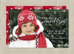 Christian Christmas Card, Comfort and Joy, Religious, Printbale Holiday Card