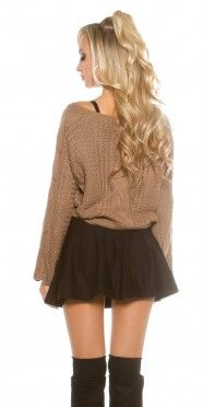 Trendy KouCla knit cable sweater