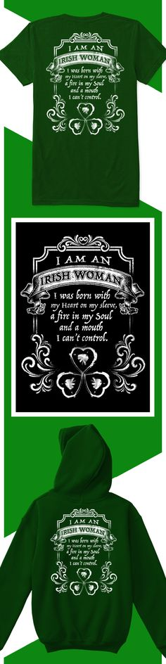 Irish Woman - Limited edition. Order 2 or more for friends/family & save on shipping! Makes a great gift!