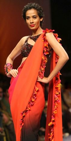 nachike Barve   my fav saree blouse design from Fall 2011 Lakme fashion week.    saree blouse design designer saree